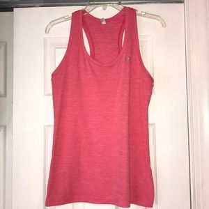 Under Armour loose fit pink tank top.